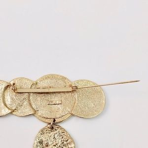 Vintage Jewelry - 80's 90's VTG Roman Coin Large Statement Brooch